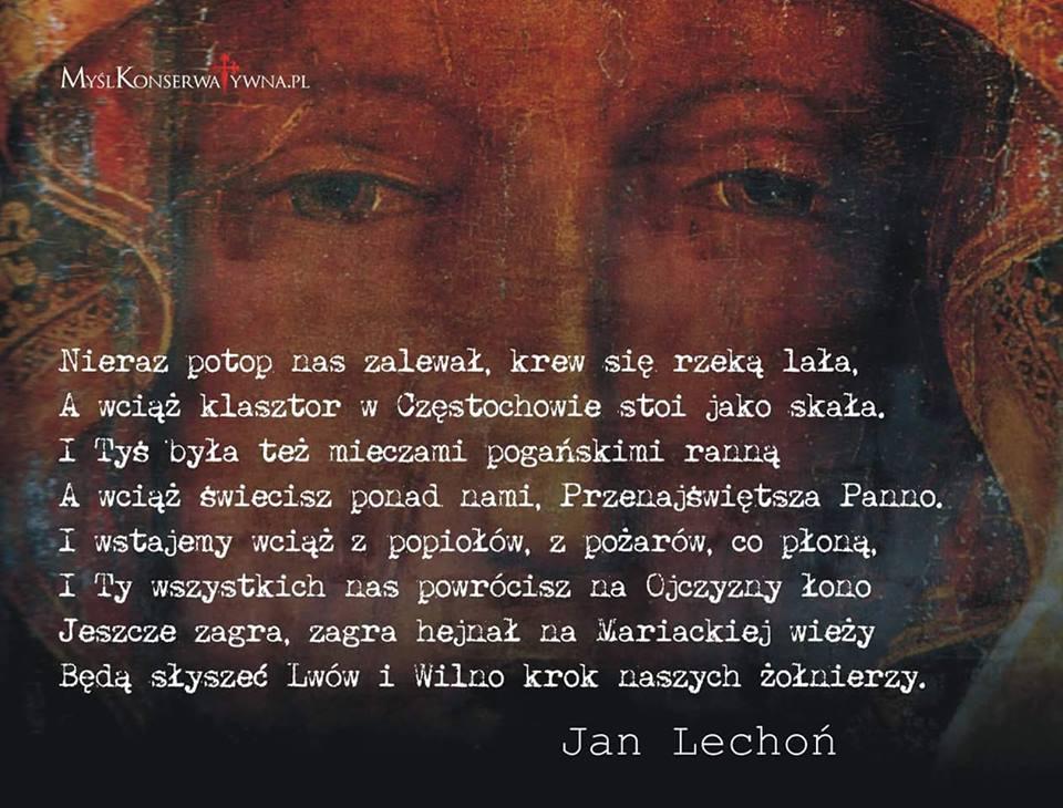 Jan Lechoń I Wiersz Matka Boska Częstochowska