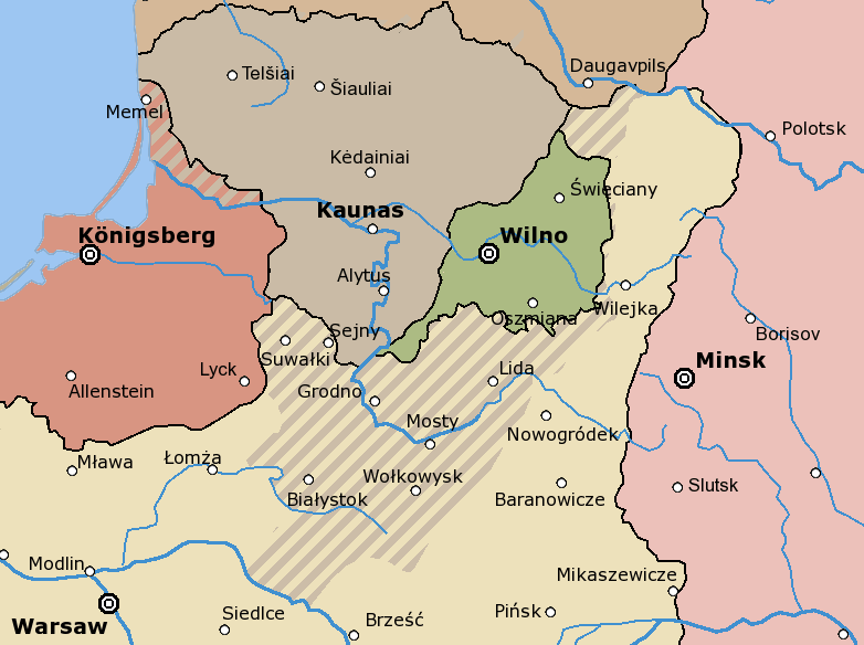 pakt sowiecko-litewski przed Bitwą Warszawską