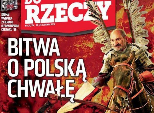 Antoni Macierewicz jako husarz