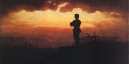 "Artur Grottger, ""Modlitwa wieczorna rolnika"""