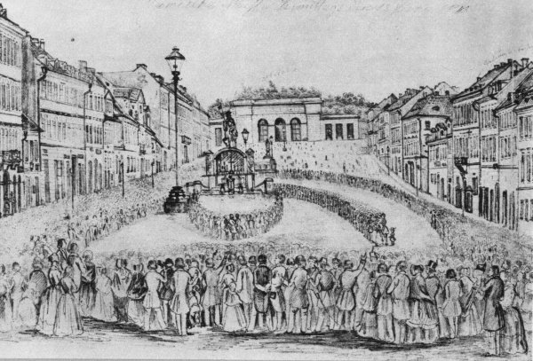 Msza na Końskim Targu 12 czerwca 1848