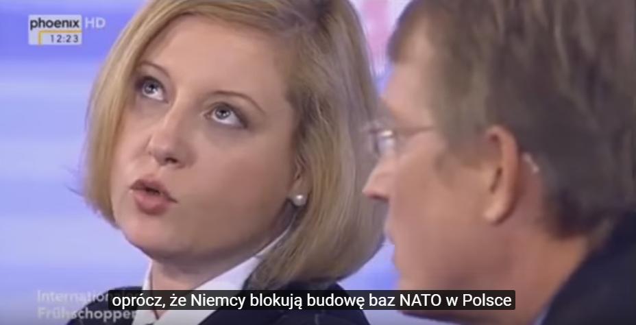 Aleksandra Rybińska w niemieckiej TV