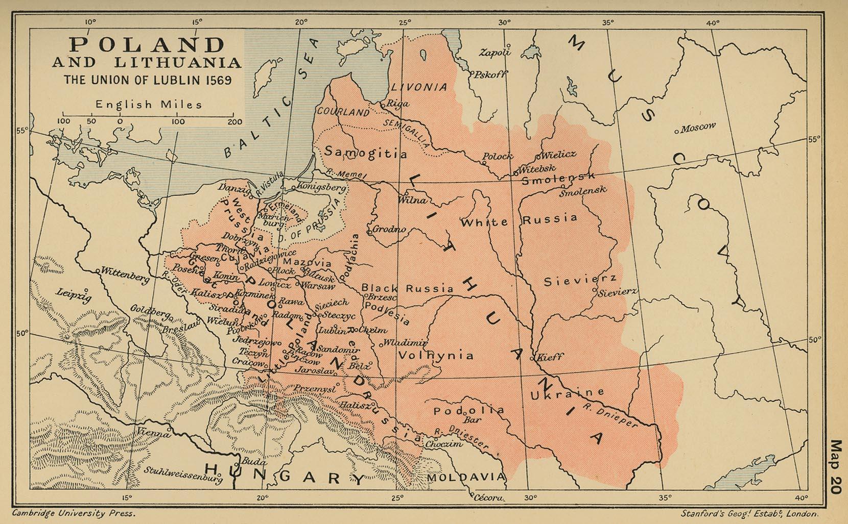 Rzeczpospolita Obojga Narodów w 1569 roku