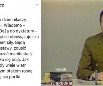 Dziennikarz Stanu Wojennego broni demokracji