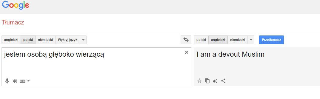 """Osoba głęboko wierząca to wg Google... """"muzułmanin"""""""