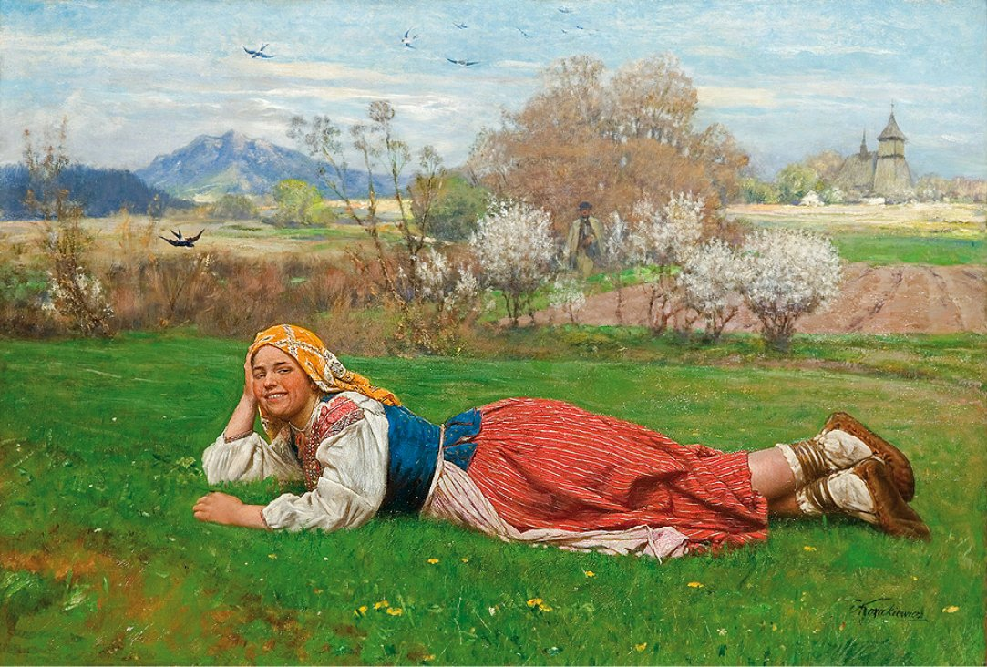 Antoni Kozakiewicz i obraz Wiosna