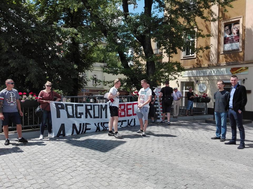 Pogrom ubecki, nie kielecki, Kieleccy Patrioci, 4.7.2016 r., fot. KL