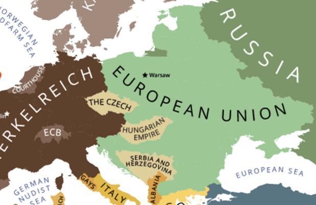 mapa Europy w 2022 roku