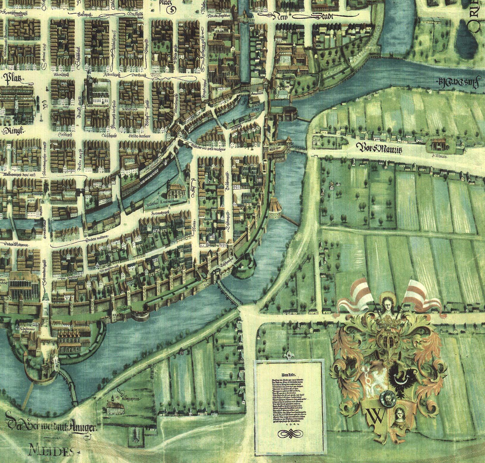Plan Wrocławia z 1562 roku