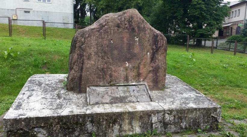 miejsce pamięci w Krasiczynie zdewastowane