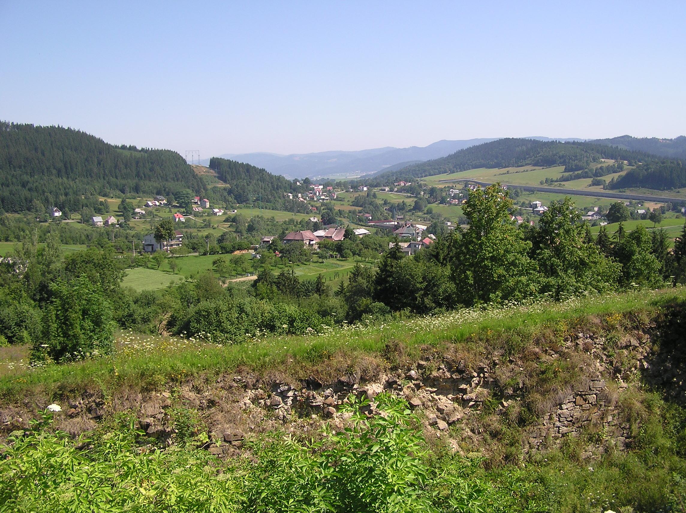 Przełęcz Jabłonkowska widziana ze starych fortów