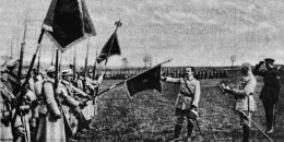 Józef Haller przysięga na sztandar Armii Polskiej