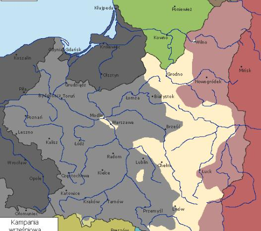 Animowana Mapa Polski W 1939 Roku Podczas Wojny Obronnej Jak