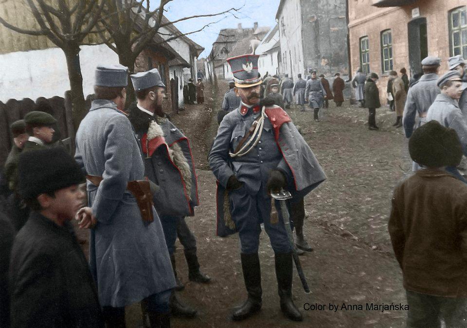 Porucznik Mariusz Zaruski, ułan Legionów Polskich, Sławków 1915 rok. Fotografia ze zbiorów Muzeum Historii Fotografii