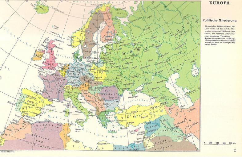 Mapa Polski Z 1969 R Ziemie Odzyskane Jako Pod Tymczasowa Polska