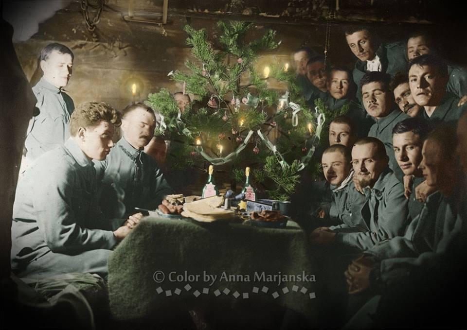 Karasin. Boże Narodzenie w okopie, 1916
