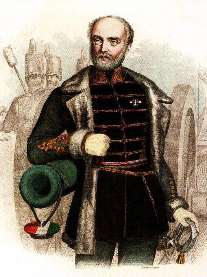 Bem jako dowódca armii siedmiogrodzkiej namalowany przez węgierskiego artystę Józsefa Tyrolera.