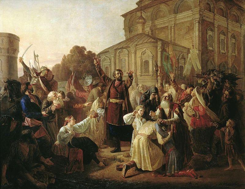 Kuźma Minin wzywa do powstania w 1611 roku