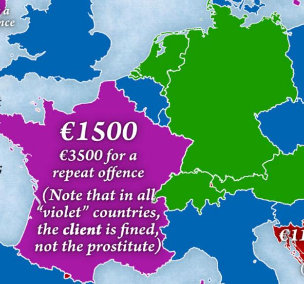 Europejska mapa prostytucji