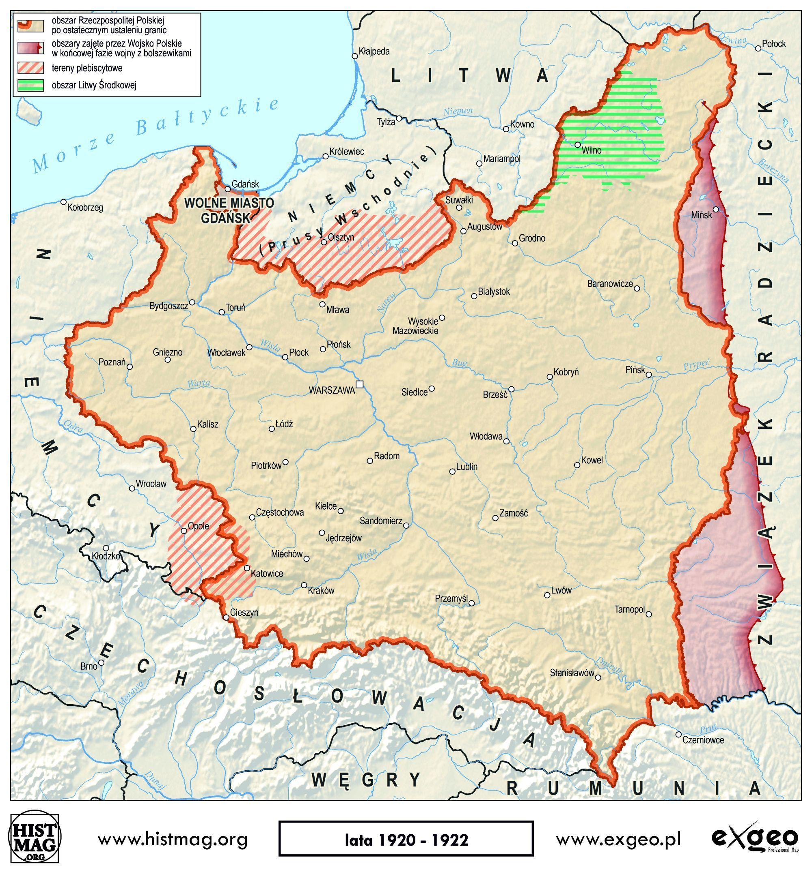 Te Mapy Pokazuja Jak Polska Odzyskiwala Niepodleglosc Mapy