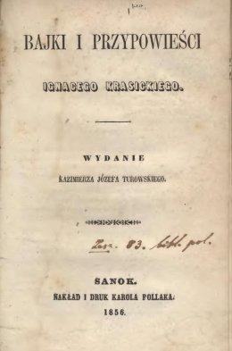 Bajki i przypowieści Ignacego Krasickiego
