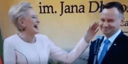 Andrzej Duda żartuje z Macrona / fot. screen Twitter