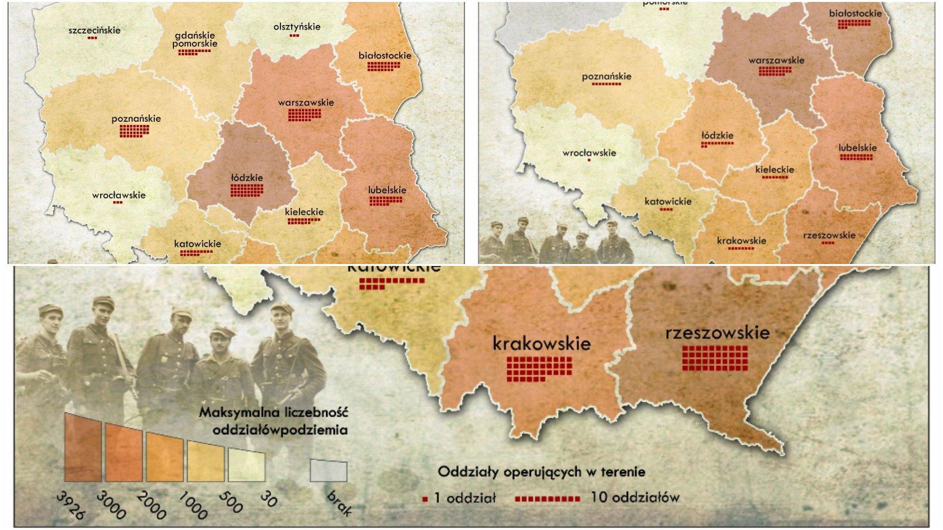 Gdzie walczyli żołnierze Wyklęci - mapy