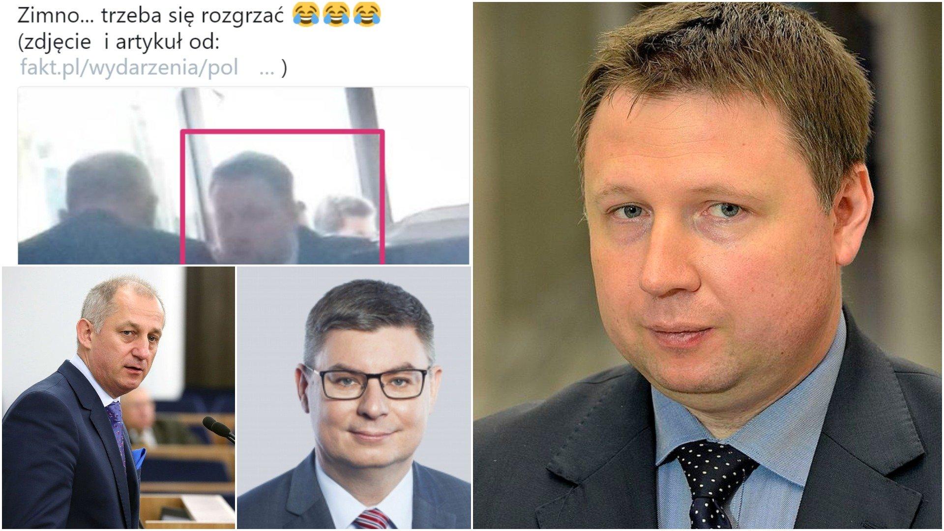 Politycy PO piją alkohol przed głosowaniem! Grabiec, Neumann i Kierwiński