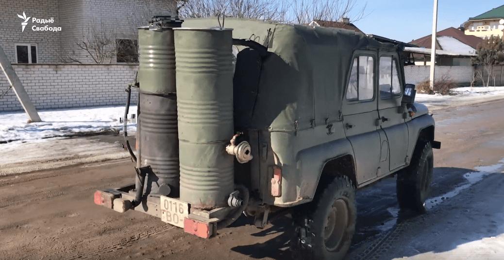 Samochód na holzgas na Białorusi