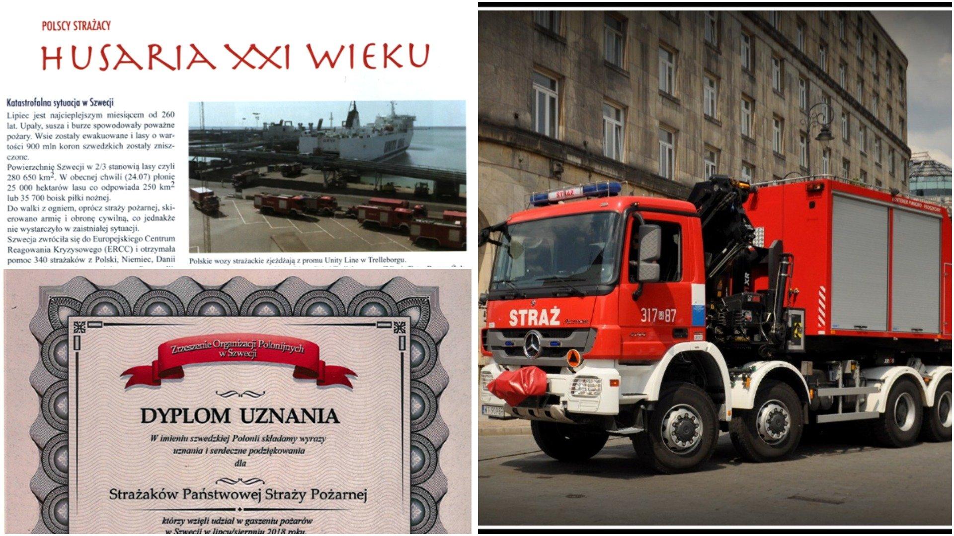 Husaria Xxi Wieku Podsumowano Pomoc Polskich Strażaków W